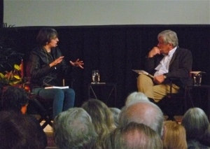 Jo being interviewed by Jim Creskey at the 2014 Ottawa International Writers Festival